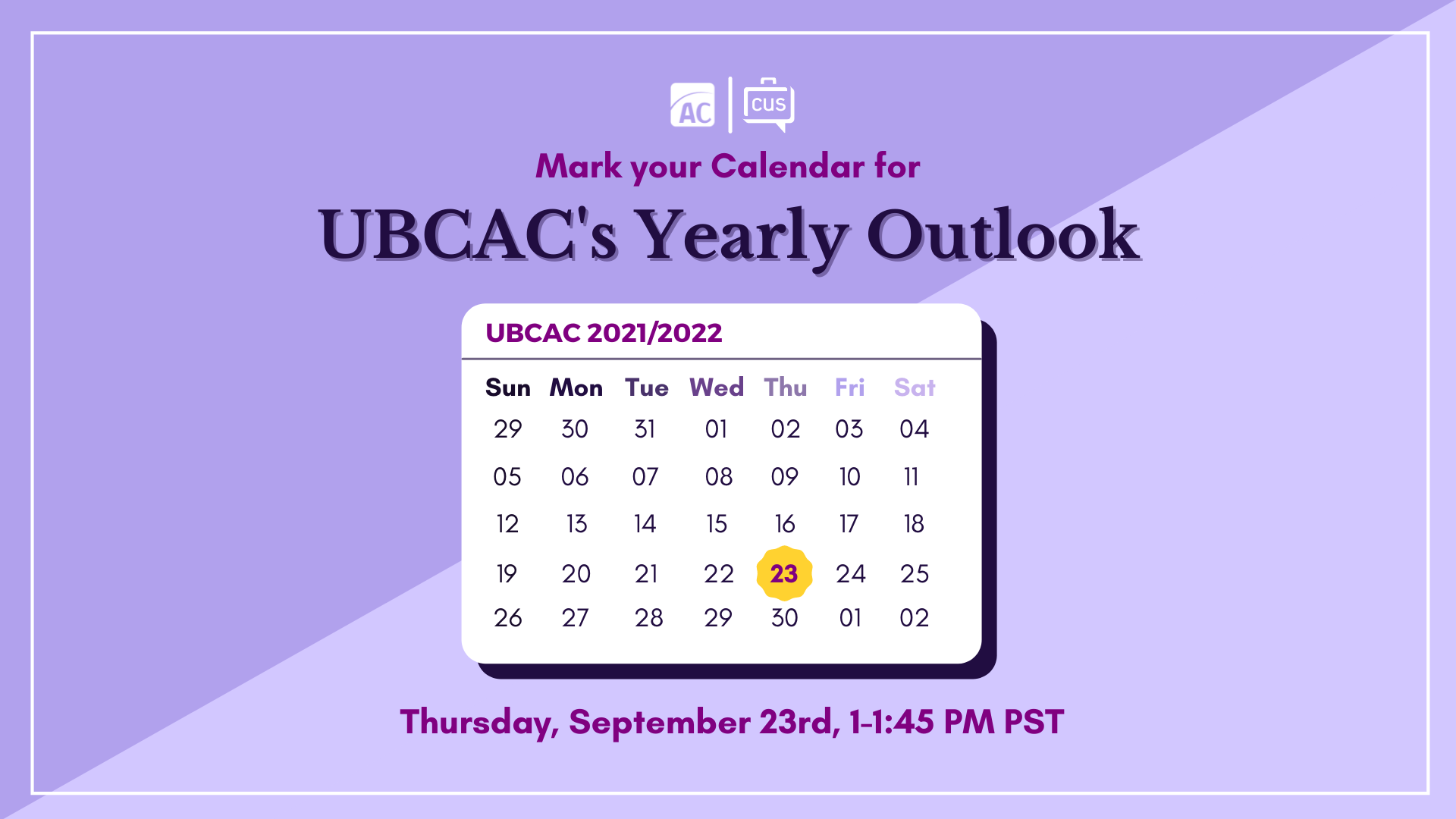 UBCAC's Yearly Outlook