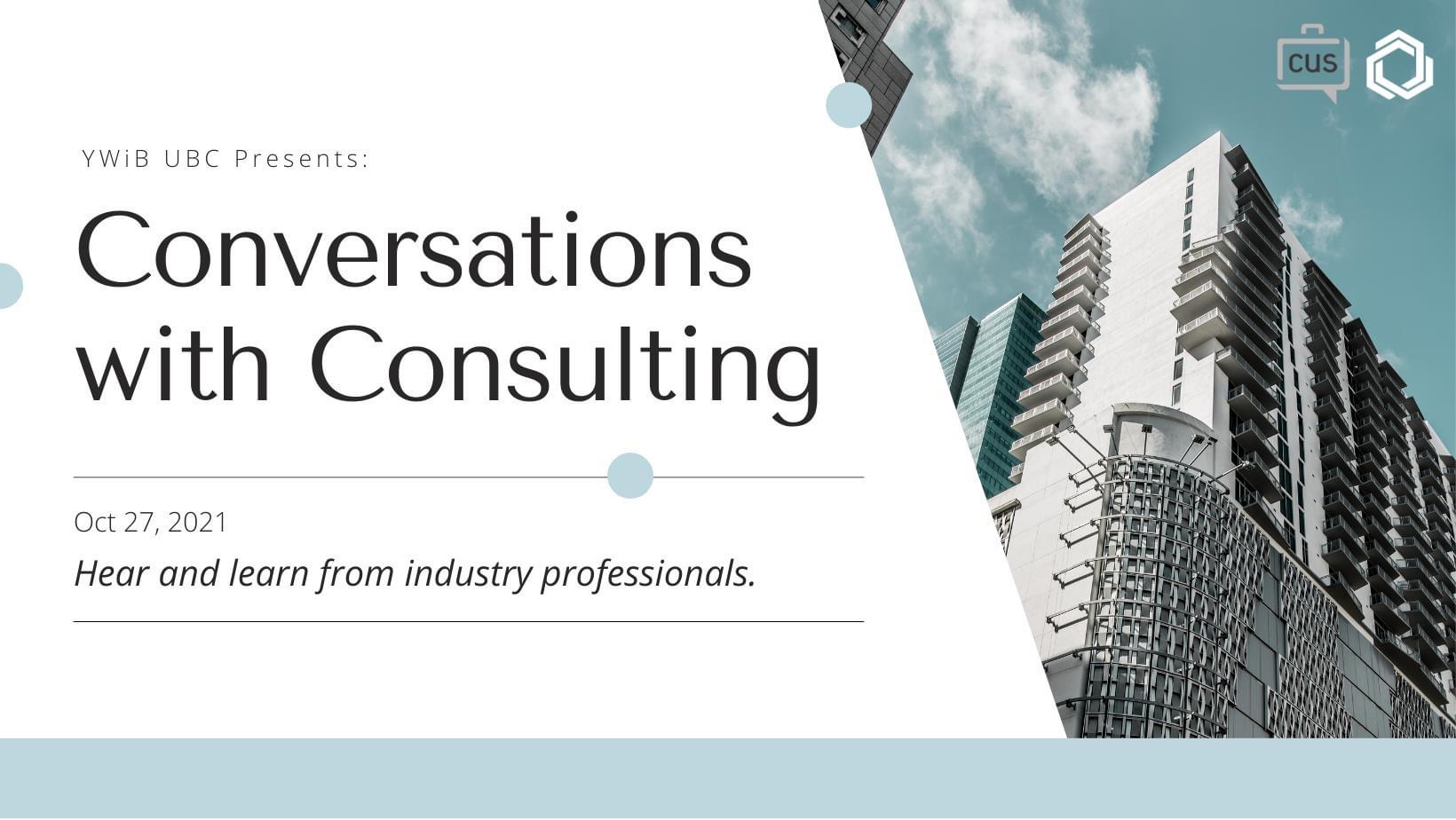 Conversations with: Consulting